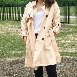 NWOT Vince Camuto Peach Trench Coat